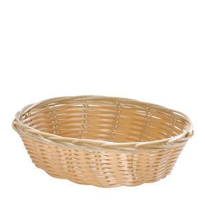 "Handwoven Basket Oval Natural 9"" x 6"" - Home Of Coffee"