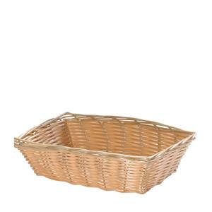 "Handwoven Basket Rectangular Natural 9"" x 6"" - Home Of Coffee"