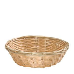 "Handwoven Basket Round Natural 8 1/4"" - Home Of Coffee"