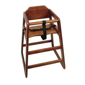 High Chair Walnut Assembled - Home Of Coffee
