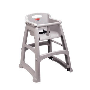 High Chair without Wheel Platinum Assembled - Home Of Coffee