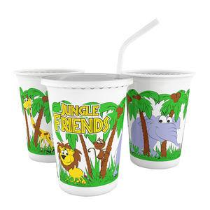 Jungle Friends Cup 12 oz - Home Of Coffee