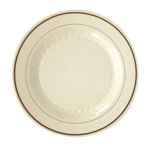 "Masterpiece™ Plate Ivory/Gold 10 1/4"" - Home Of Coffee"