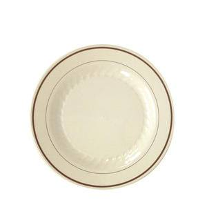 "Masterpiece™ Plate Ivory/Gold 9"" - Home Of Coffee"