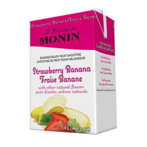 Monin® Strawberry Banana Fruit Smoothie Mix - Home Of Coffee