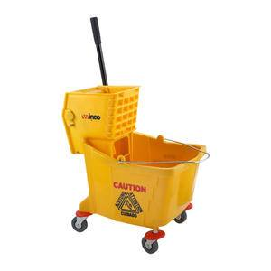 Mop Bucket with Wringer Yellow 36 qt - Home Of Coffee