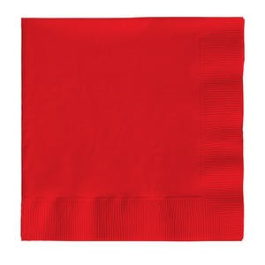 "Napkin 2-Ply Red 10"" x 10"" - Home Of Coffee"