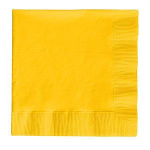 "Napkin 2-Ply Yellow 10"" x 10"" - Home Of Coffee"
