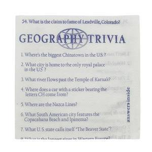 "Napkin Cocktail Trivia 10"" x 10"" - Home Of Coffee"