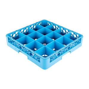 OptiClean™ Glass Rack 16-Compartment Blue - Home Of Coffee