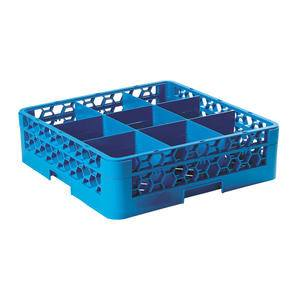 OptiClean™ Glass Rack 16-Compartment with One Extender Blue - Home Of Coffee