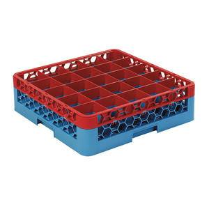 OptiClean™ Rack 25 Compartment with 1 Extender Red/Blue - Home Of Coffee