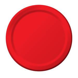 "Paper Plate Red 7"" - Home Of Coffee"