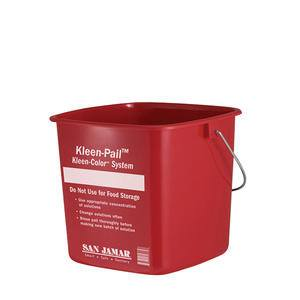 Sanitizing Pail Red 6 qt - Home Of Coffee