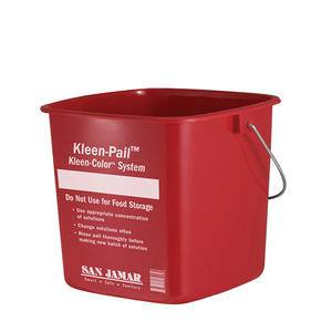 Sanitizing Pail Red 8 qt - Home Of Coffee