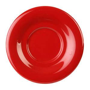 "Saucer Pure Red 5 1/2"" - Home Of Coffee"
