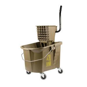 Splash Guard™ Bucket/Wringer Combo Bronze 35 qt - Home Of Coffee