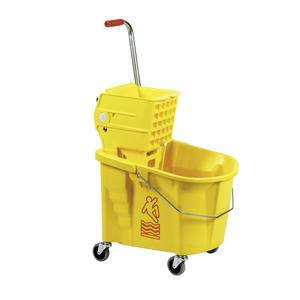 Splash Guard™ Bucket/Wringer Combo Yellow 35 qt - Home Of Coffee