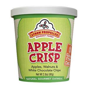 Straw Propeller Apple Crisp Oatmeal - Home Of Coffee