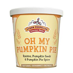 Straw Propeller Oh My Pumpkin Pie Oatmeal - Home Of Coffee