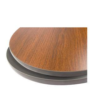 "Table Top Round Mahogany Black 24"" - Home Of Coffee"