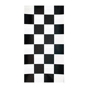 "Tablecover Black Check 40"" x 100' - Home Of Coffee"