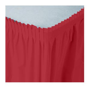 Tableskirt Red 14' - Home Of Coffee