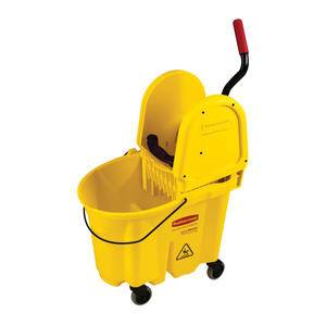 WaveBrake® Bucket/Wringer Combo Down Press Yellow - Home Of Coffee
