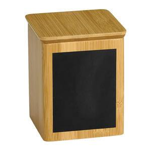 "Write-On™ Bamboo Riser Square 4"" x 4"" x 5.5"" - Home Of Coffee"