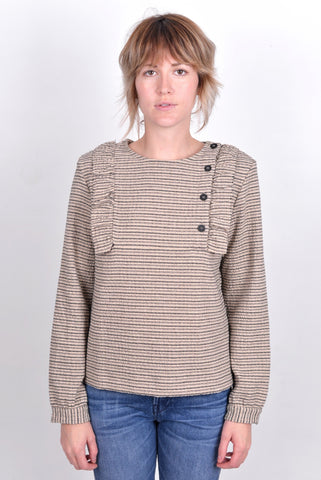 ringo wool seersucker top / polder / sale / tullarue / paris / dutch designers / ruffle