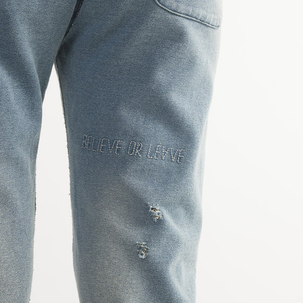 Distressed Terry Sweatpants