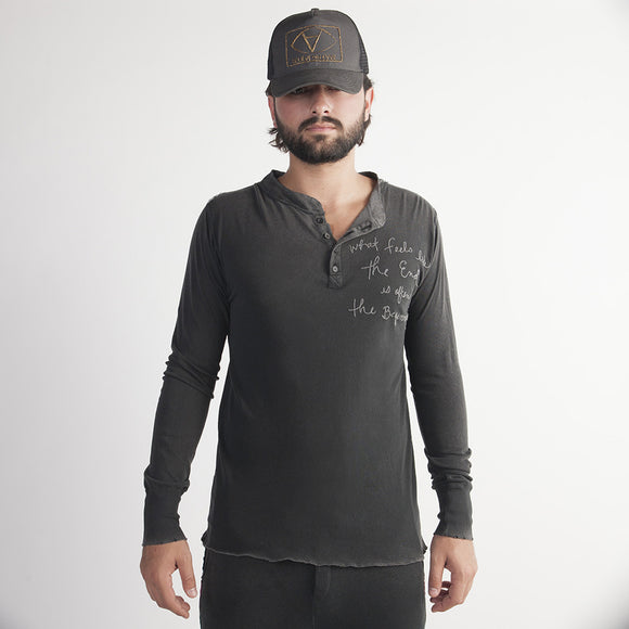 Long Sleever Cotton Henley