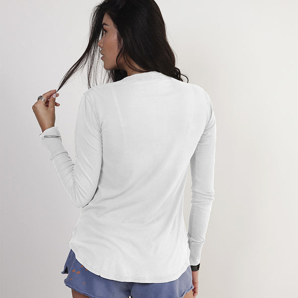 Long Sleeve Cotton Henley