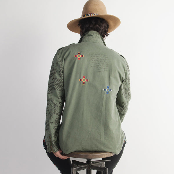 Mexican Patch Military Jacket