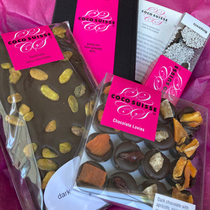 Chocolate gift boxes and Chocolate survival kits