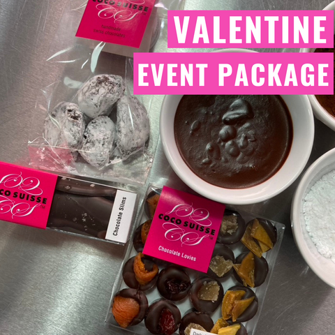 Valentines Live Zoom Truffle Making Class / Chocolate Package