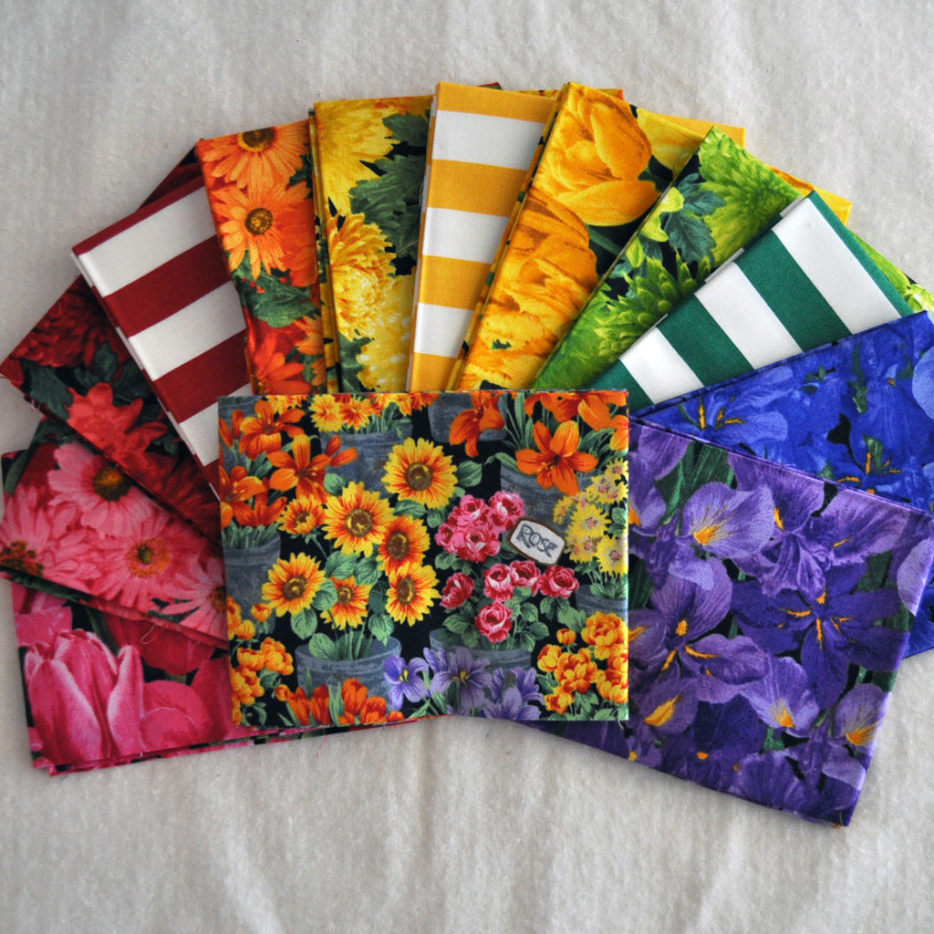 Fresh Maket Flowers Fat Quarter Bundle