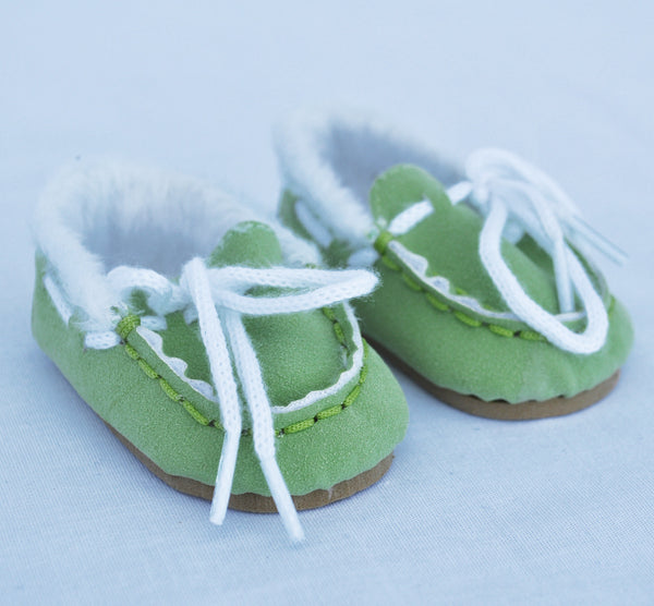 "18"" Doll Suede Mocasin Slippers"