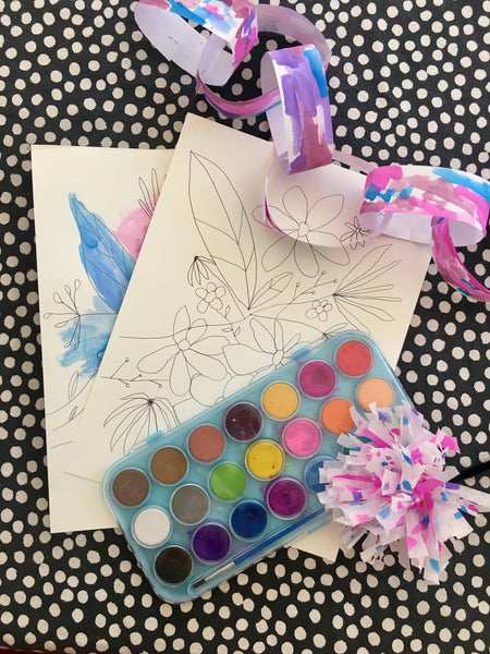 Art kit with online class - Watercolor Magic, 3 projects