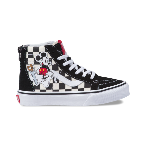 Vans Zapatilla Sk8-Hi Zip Disney Mickey Mouse Checkerboard - VN0A3276UT2 be44ac6906a