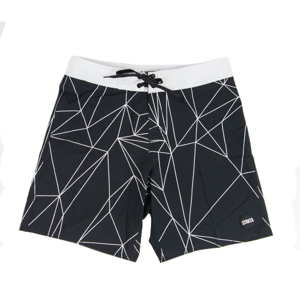 Boardshort Strata Polygon Black - 62016-27