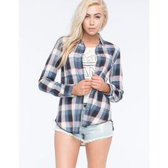 Vans Blusa Franela Day Tripper China Blue - VN-007YE2A