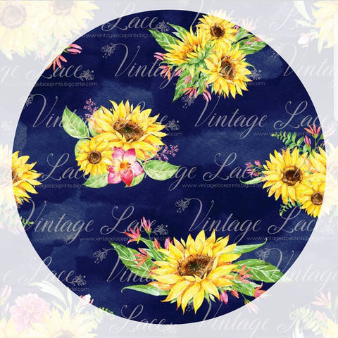 Retail - Coryn's Sunflowers (navy background)