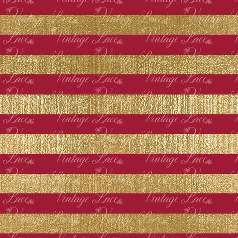 Retail- Flores de Noche Buena Stripe Coordinate (Red and Gold)