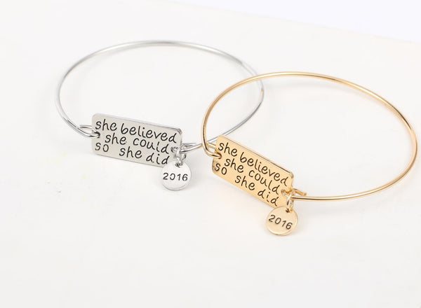 FREE She Believed She Could So She Did Bangle - Just Pay Shipping!