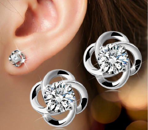 Lucky Four Leaf Earring
