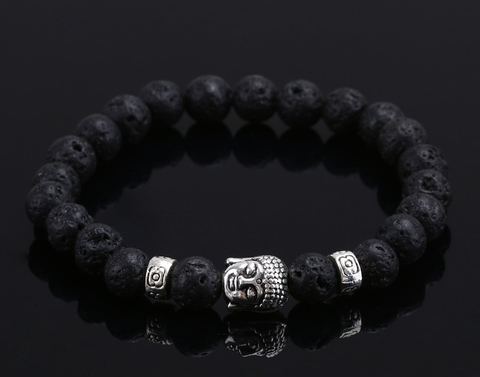 Natural Stone Buddha Beads