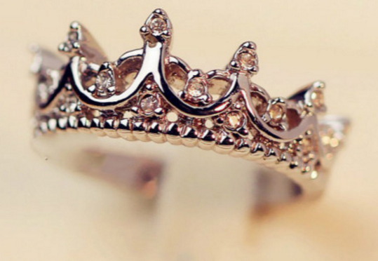 Crystal Crown Womens Ring