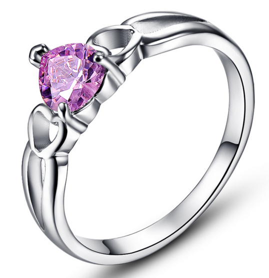 Pink Topaz Wedding Ring