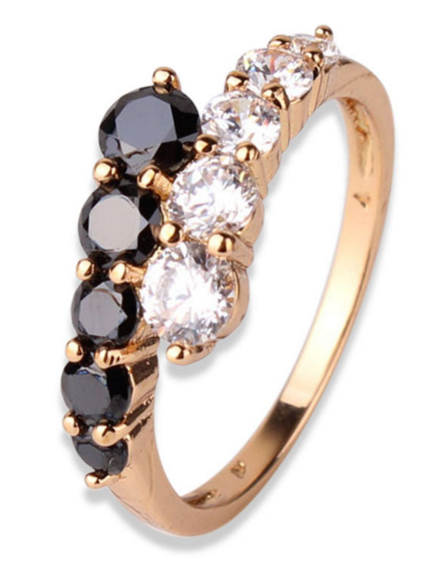 Gold Plated Crystal Wedding Ring